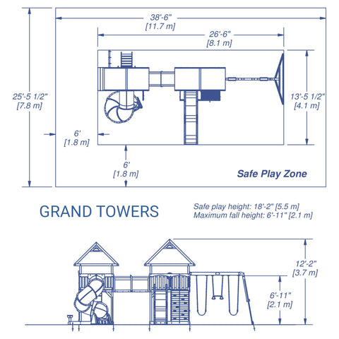 Backyard Discovery Playsets - Grand Towers #details