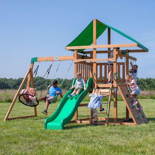 Grayson Peak Wooden Swing Set#main