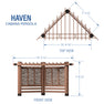 Haven Cabana Pergola Diagram