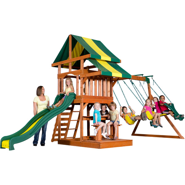 Backyard Discovery Playsets - Independence Wooden Swing Set #features