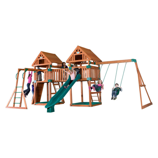 Backyard Odyssey Swing Sets - Kings Peak Wooden Swing Set #features