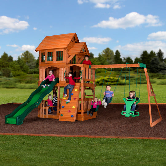 Backyard Discovery Playsets - Liberty II Wooden Swing Set #main