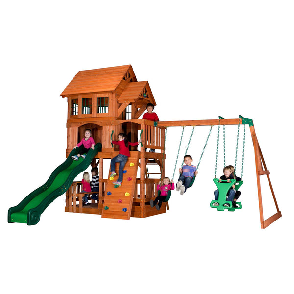 Backyard Discovery Playsets - Liberty II Wooden Swing Set #features