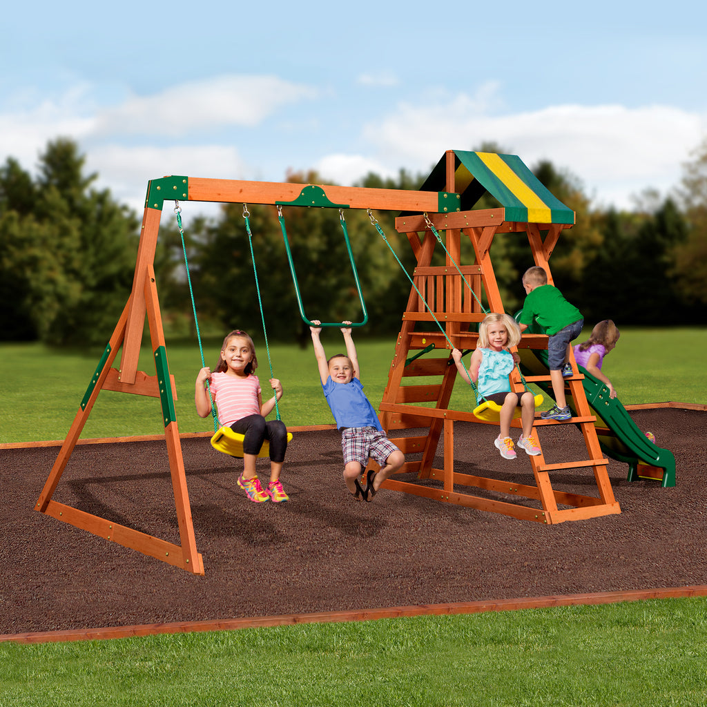 ea8c864cbd Backyard Discovery Playsets - Madison Wooden Swing Set