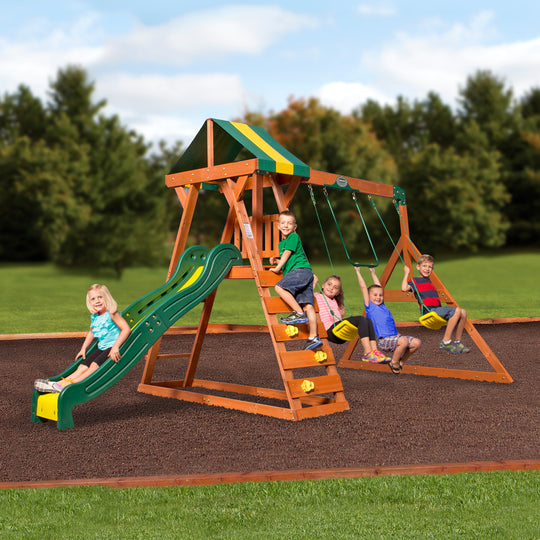 Backyard Discovery Playsets - Madison Wooden Swing Set #main