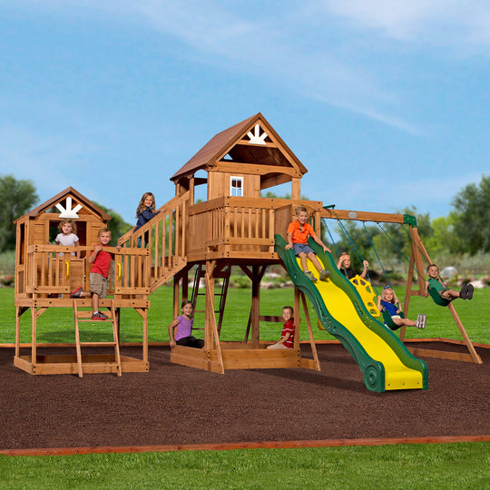Malibu Wooden Swing Set #main