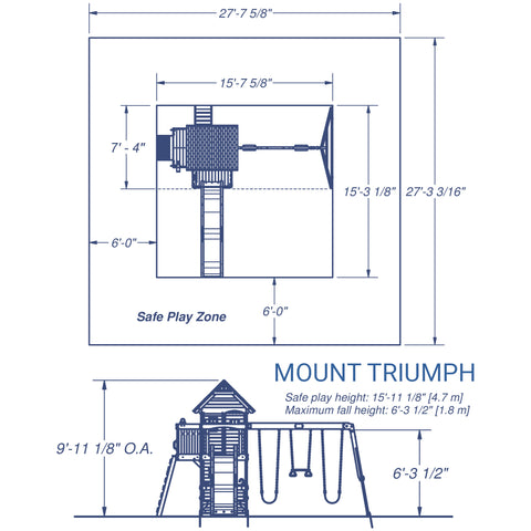 Backyard Discovery - Mount Triumph Wooden Swing Set #details