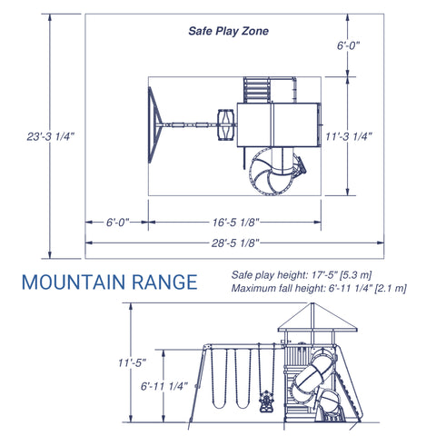 Backyard Discovery Playsets - Mountain Range Wooden Swing Set#details