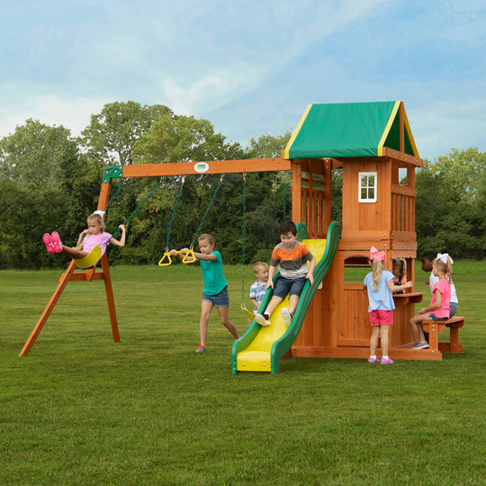 Backyard Discovery Playsets - Oakmont Wooden Swing Set#main