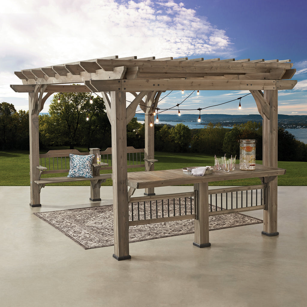 Captivating Oasis 14 X 10 Pergola With Electric