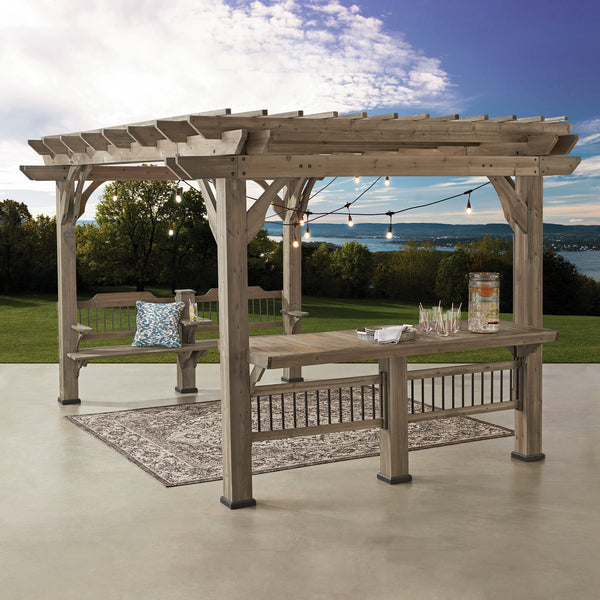 10 Ways To Create A Backyard Oasis: Oasis 14 X 10 Pergola With Electric