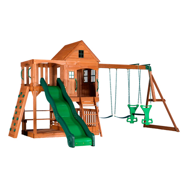 Backyard Discovery Playsets - Sheridan Wooden Swing Set#features