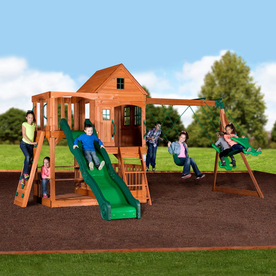 Backyard Discovery Playsets - Pacific View Wooden Swing Set #main