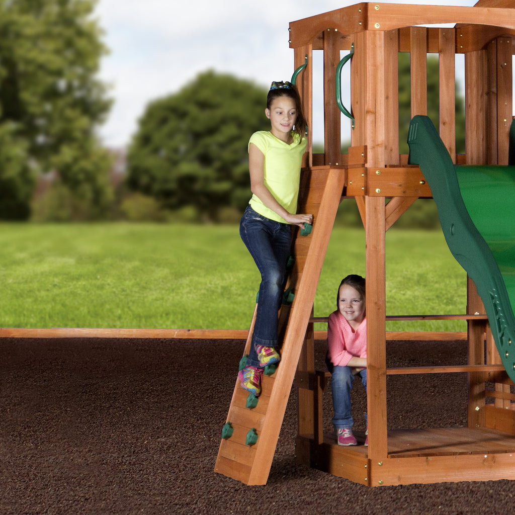 pacific view wooden swing set playsets backyard discovery