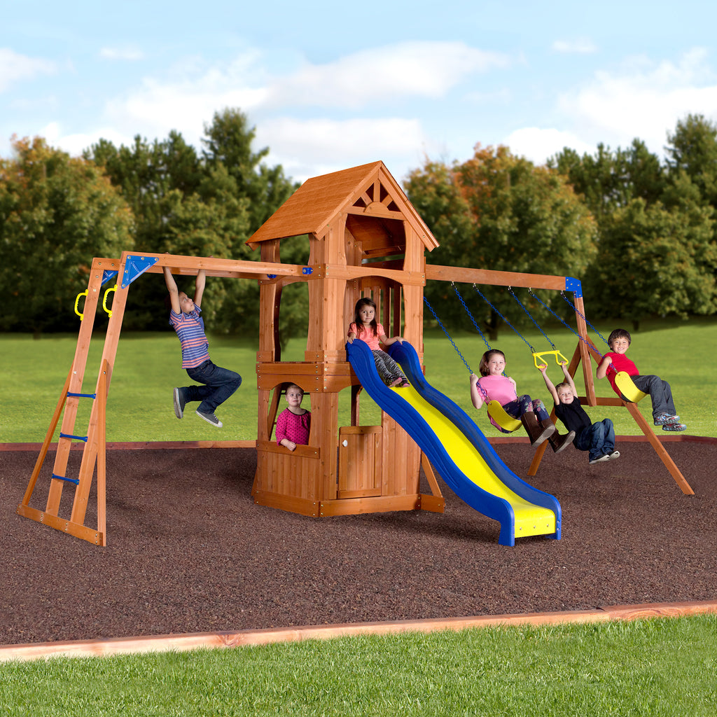 Parkway Wooden Swing Set - Playsets | Backyard Discovery