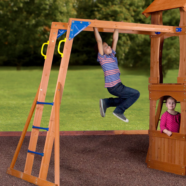 Parkway Wooden Swing Set Playsets Backyard Discovery