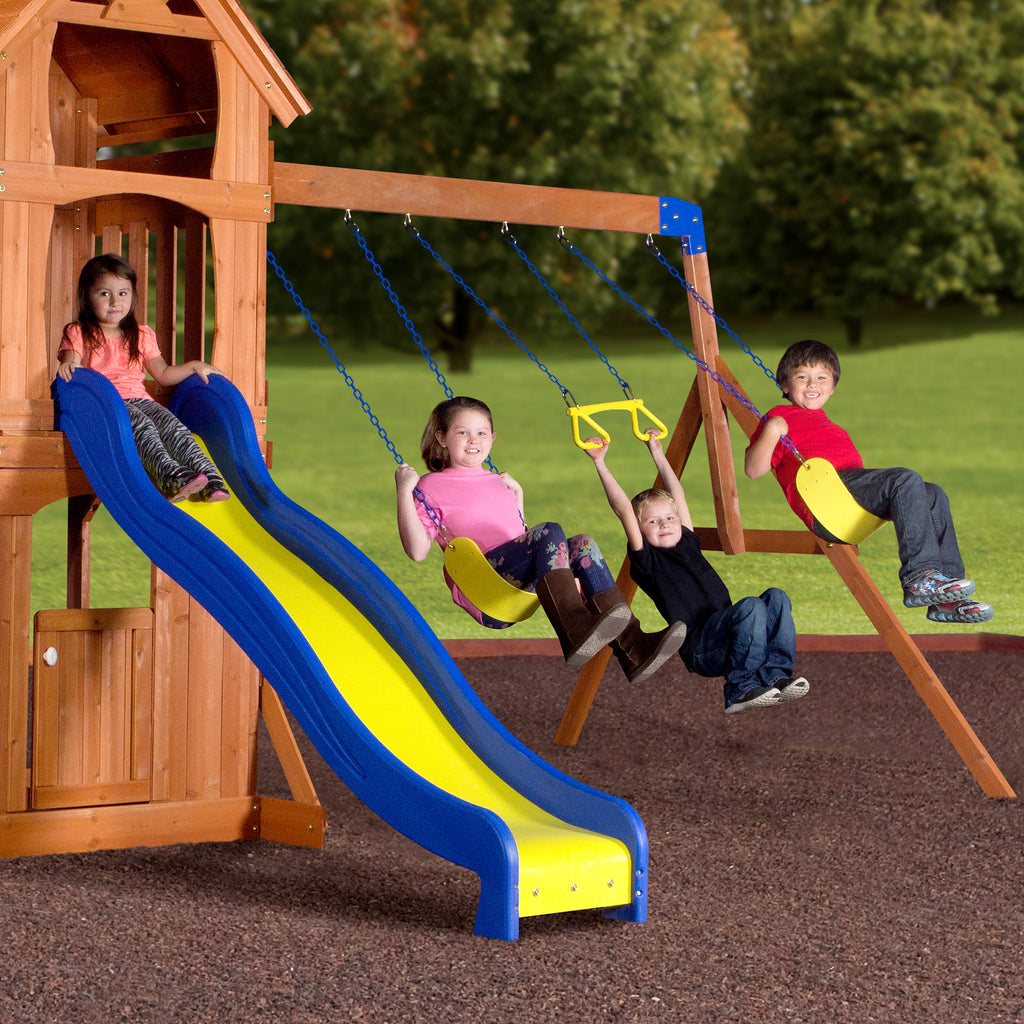 parkway wooden swing set playsets backyard discovery 87137