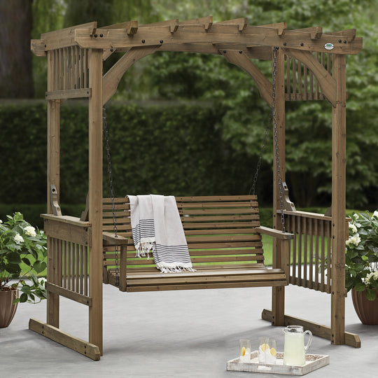 Deluxe Pergola Swing - Arched Roof #main