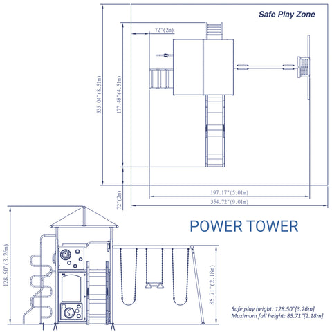 Backyard Discovery Playsets - Power Tower Metal Swing Set#details