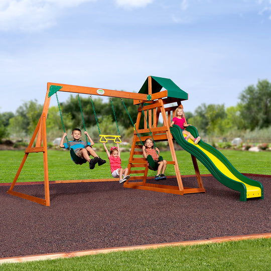 Backyard Discovery Playsets - Prescott Wooden Swing Set#main