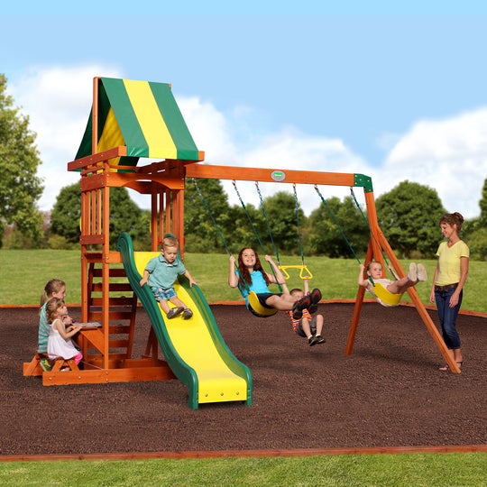 Backyard Discovery Playsets - Sunnydale Wooden Swing Set #main