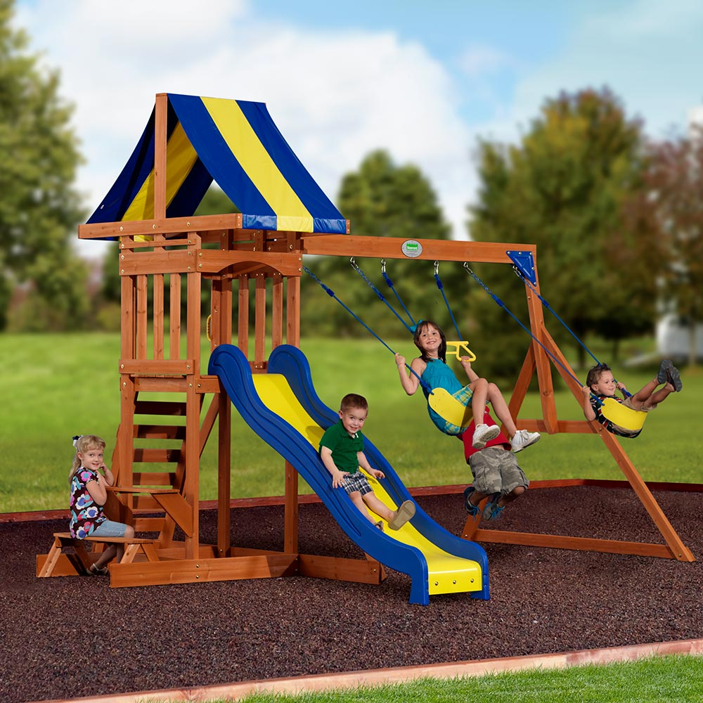 providence wooden swing set playsets backyard discovery 87137