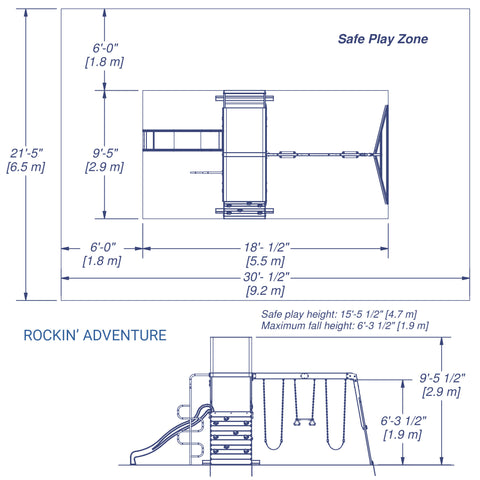 Backyard Discovery Playsets - Rockin' Adventure Wooden Swing Set#details