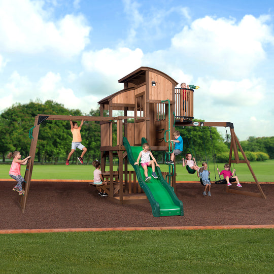 Backyard Discovery Playsets - Skyfort Elite Wooden Swing Set #main