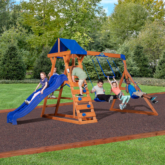 Saddlebrook Wooden Swing Set#main