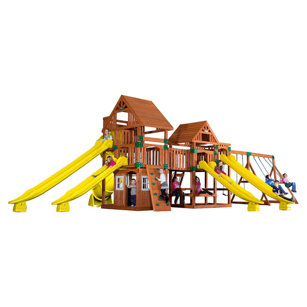 Backyard Odyssey Swing Sets - Safari Wooden Swing Set #features