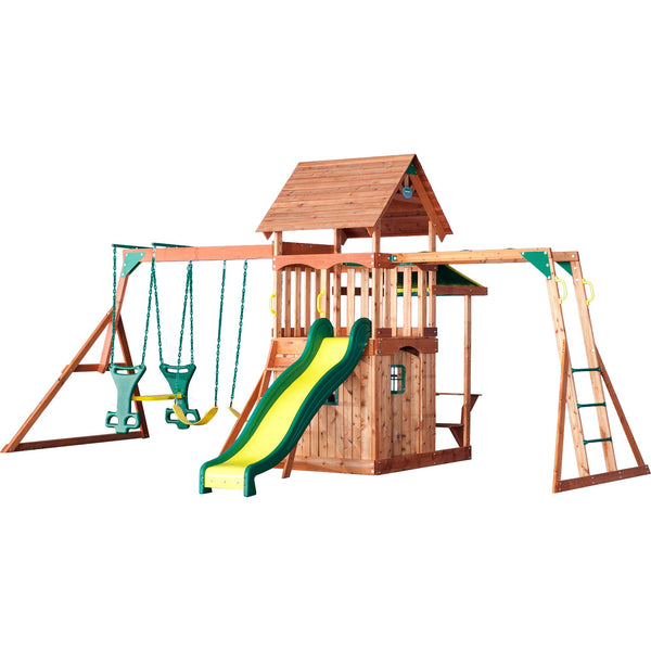 Backyard Discovery - Saratoga Wood Swing Set #features