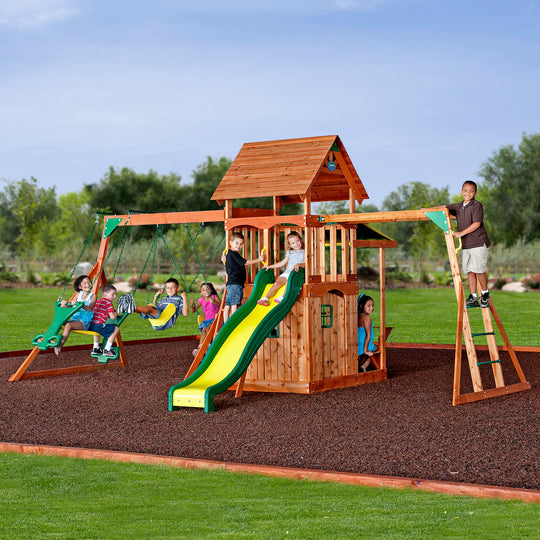 Backyard Discovery Playsets - Saratoga Wooden Swing Set #main