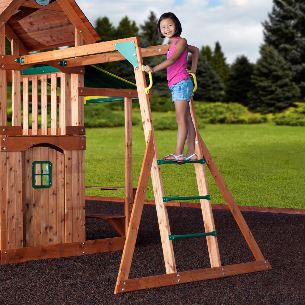 Backyard Discovery Playsets   Saratoga Wooden Swing Set