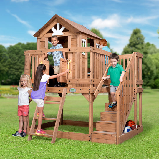 Wooden Playhouses - Scenic Heights Wooden Playhouse #main