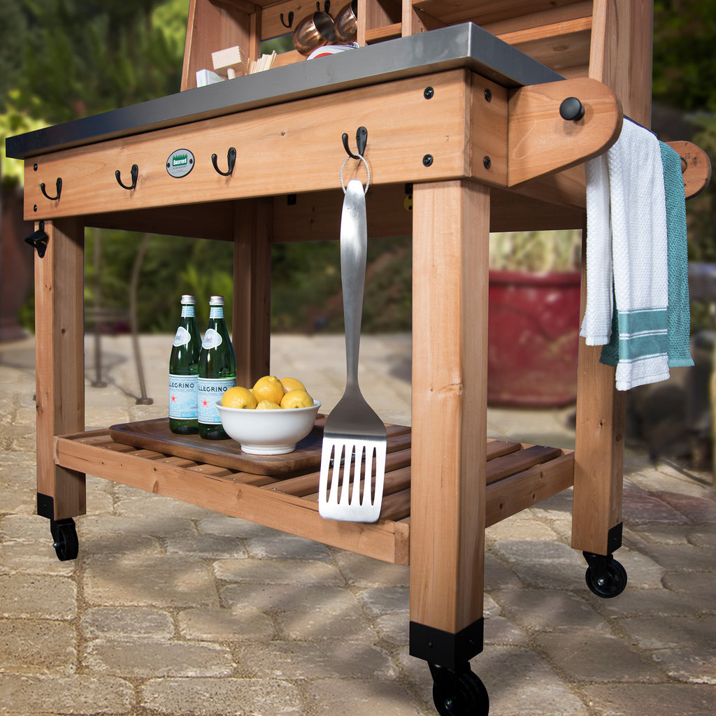 Charming Patio Serving Cart
