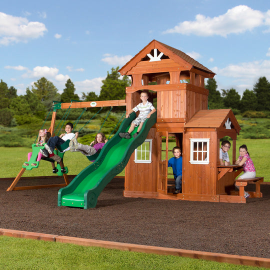 Backyard Discovery Playsets - Shenandoah Wooden Swing Set#main