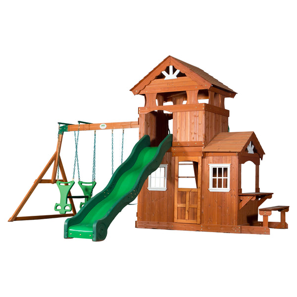 Backyard Discovery Playsets - Shenandoah Wooden Swing Set #features