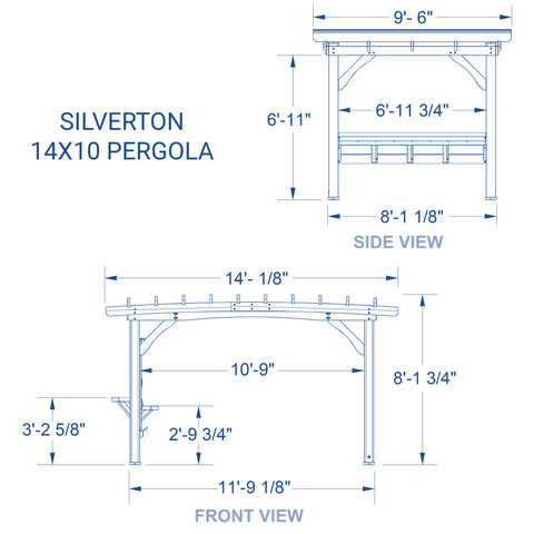 Silverton 14 x 10 Pergola With Electric#details