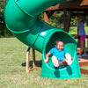 Skyfort With Tube Slide Wooden Swing Set Tube Slide