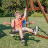 Skyfort With Tube Slide Wooden Swing Set Web Swing