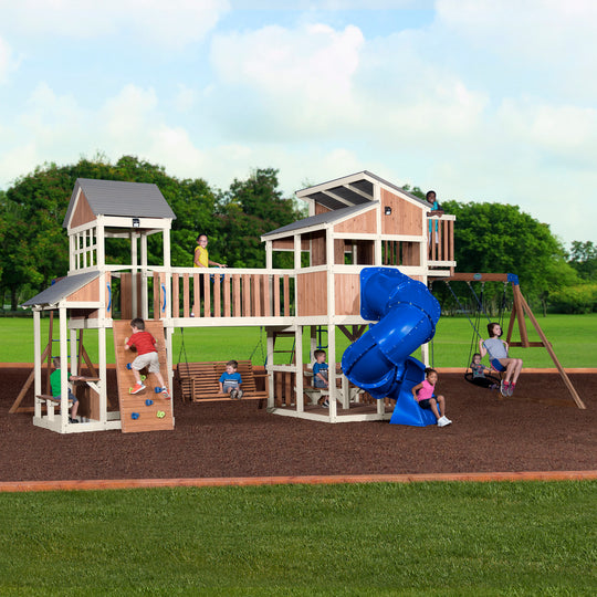 Skyline Retreat Wooden Swing Set#main