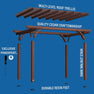 Somervielle 14x10 Pergola Exploded View
