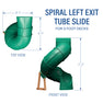 Left Exit Tube Slide For 5ft Play Deck Diagram