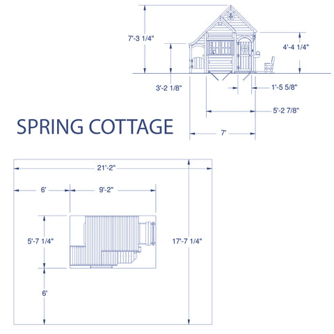 Backyard Discovery - Spring Cottage Wooden Playhouse#details