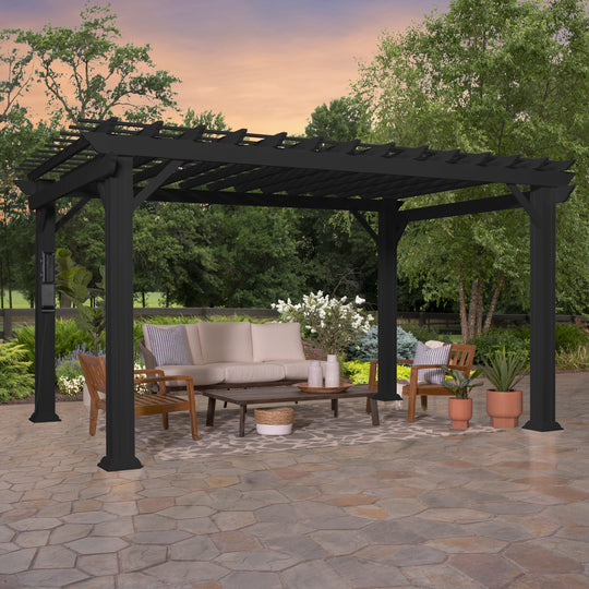 14x10 Stratford Traditional Steel Pergola #main