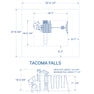 Tacoma Falls Wooden Swing Set#details