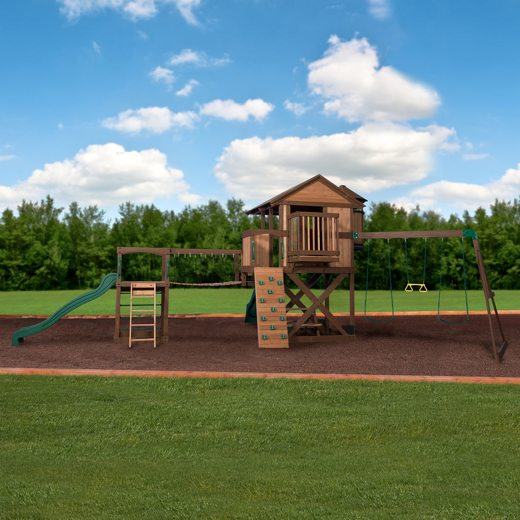 Backyard Discovery Playsets   Timber Cove Wooden Swing Set