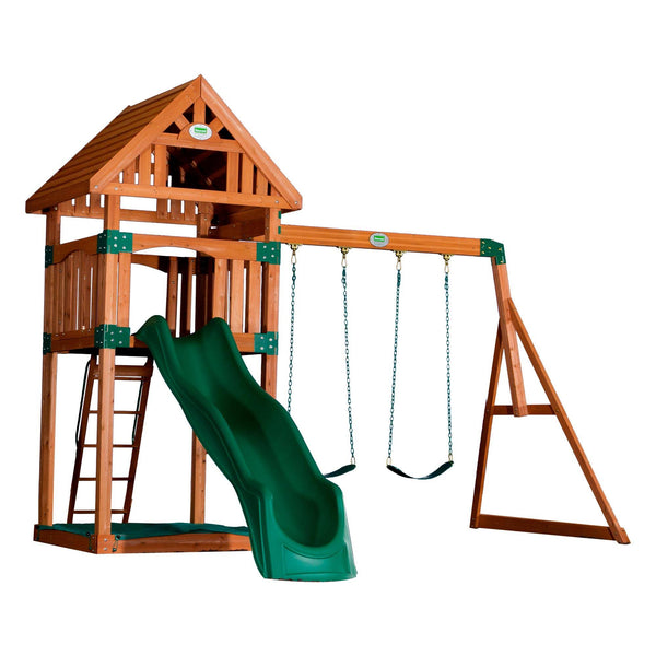 Backyard Odyssey Swing Sets - Trek Wooden Swing Set #features