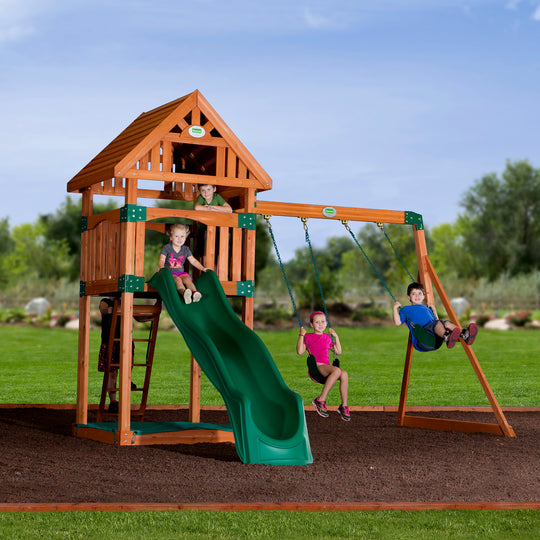 Backyard Odyssey Swing Sets - Trek Wooden Swing Set #main