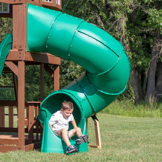 Spiral Tube Slide - Tall Right Exit #main